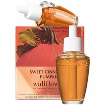 Bath & Body Works Sweet Cinnamon Pumpkin Wallflowers Home Fragrance Refi... - $14.86