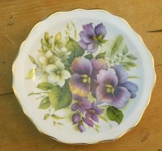 "Vintage Small Plate 4.5"" Butchant Garden Pansy Made in Regency England - $15.00"