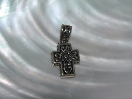 Estate Small & Chunky Double-sided Simple and Ornate Silvertone CROSS Pe... - $8.59