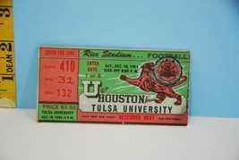 U of Houston v Tulsa University College Football Ticket Stub Oct. 1964 - $19.75