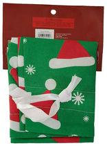"""NEW 18""""x 28"""" Christmas Santa Claus Hats Green Flocked Gift Bag Drawstring Sack image 4"""