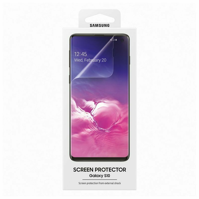 Samsung Silicone Case + Screen Protector Transparent for Samsung Galaxy S10