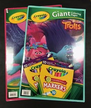 Crayola Coloring Bundle - 2 Giant Coloring Books (Trolls) w/ 2 Packs of Markers - $24.30
