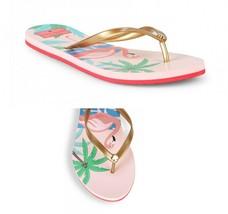 NWB! KATE SPADE ~Sizes 6 & 7 ~ Flamingo Signature Logo Thong Flip Flops Sandals - $35.99