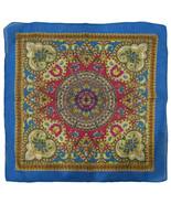 "Wholesale Lot of 3 Paisley Mosaic Multi Color Blue 100% Cotton 22""x22"" Bandana - £7.18 GBP"