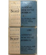 Sears Adding Machine Ribbon 3931 Fits Sears No. 5809 5810 & 5825 lot of 2 - $14.01