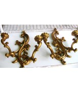 Mid - Century Dart Hollywood Regency Goldtone Double Armed Sconces - $15.00