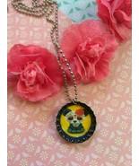 Sugar Skull Panda Bottle Cap Necklace - $4.00