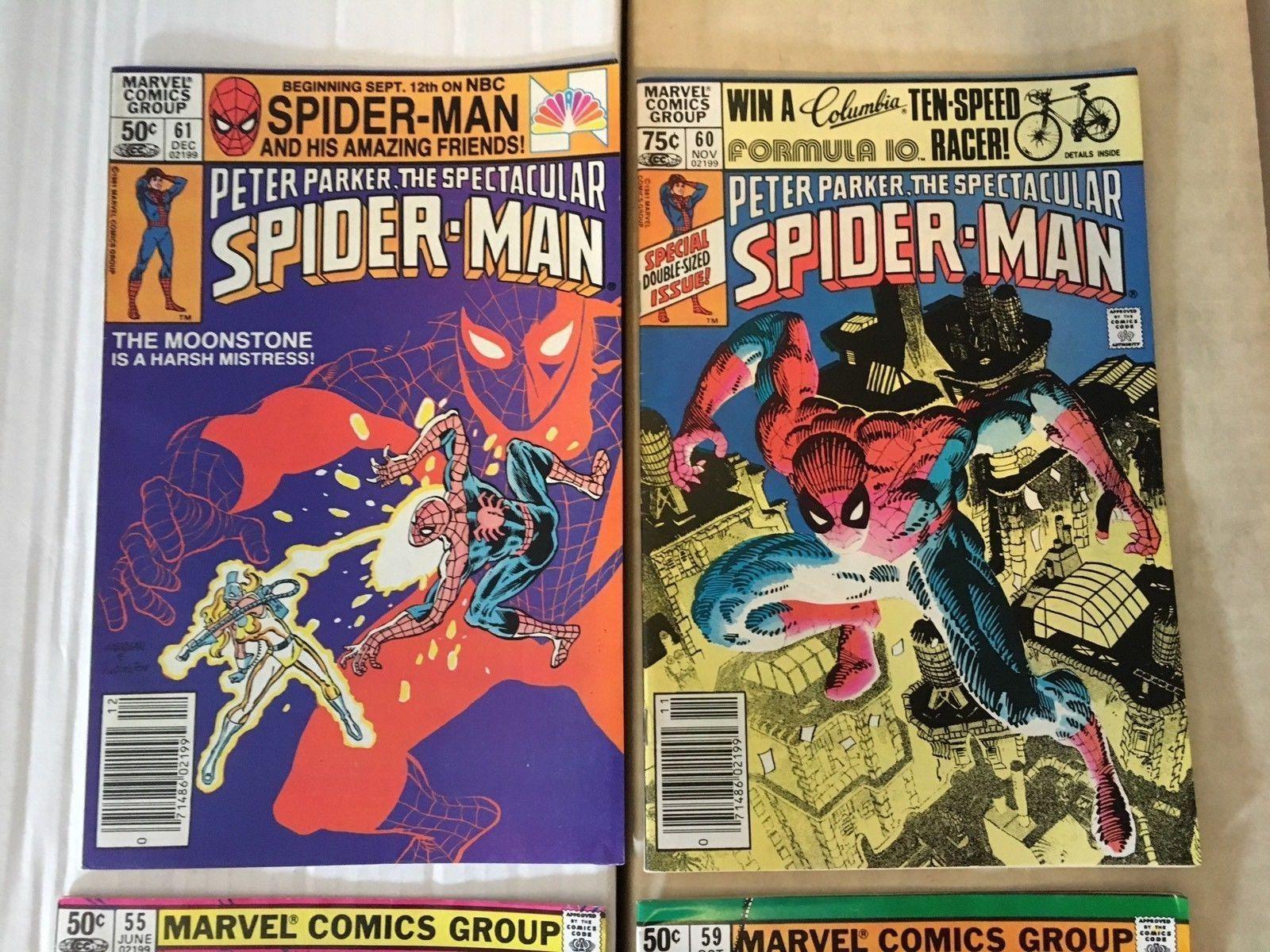 Spectacular Spider-Man 55 59 60 61 Marvel Comic Black Costume 1981 VF/VF+
