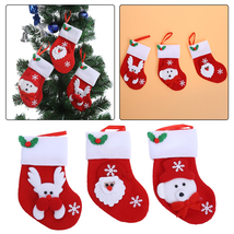 Christmas Cute Sock Fork Knife Package Storage Tableware Cutlery Sets Co... - $12.00