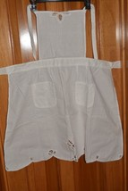White Battenberg Lace Bib Chef Apron NWOT - $14.54