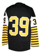 Ed Turek #39 Hamilton Tiger-Cats CFL New Men Football Jersey Black Any Size image 4