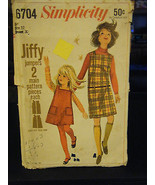 Simplicity 6704 Girl's Jiffy Jumpers Pattern - Size 12 Chest 30 - $10.00