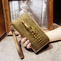 Ladies leather wallets 3D crocodile alligator women purse clutch Long Female  - $16.00