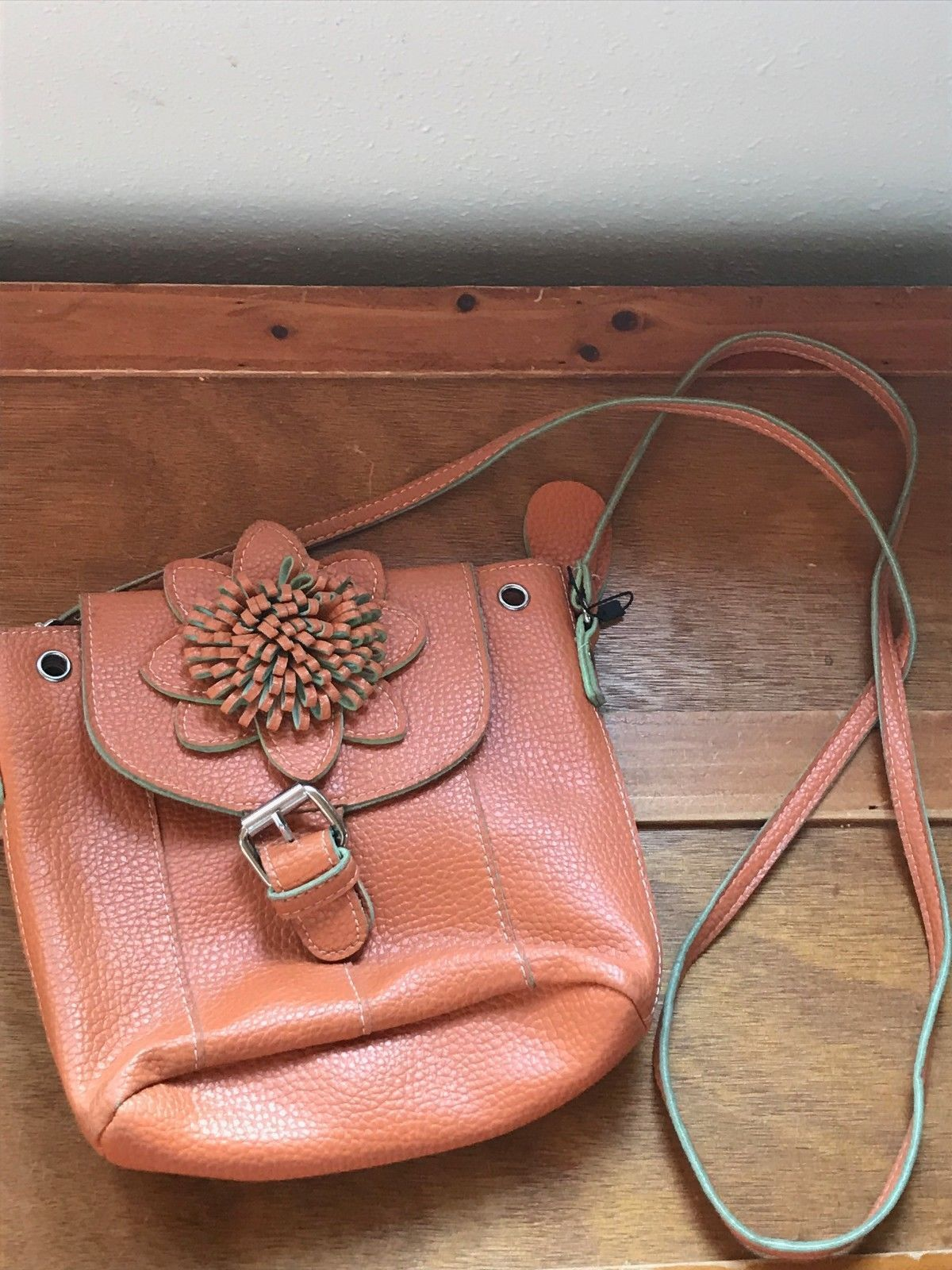 114066b798845 Gently Used Small Orange Leather Noelle and 50 similar items