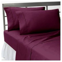 Extra Deep Pocket 6 PC Sheet Set 1200TC Egyptian Cotton All-Size Wine Solid - $62.63+