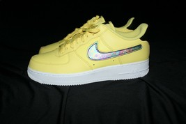 Nike Air Force 1 07 LV8 Yellow Pulse Swoosh Casual Shoes CI0064-700 SZ 11.5 - $92.14