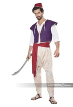 California Trajes Árabe Folk Héroe Aladdin Hombre Disfraz Halloween 01409 - $32.53