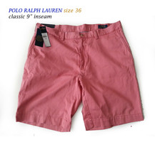 "POLO Ralph Lauren Men Size 36 classic cotton shorts 9"" inseam red color seat at  - $38.75"