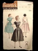 Vintage Sewing Butterick Pattern 6885 Teen Dress Size 10 1950S - $13.81