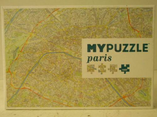 NEW MYPuzzle Paris City Map Made in Europe 1000 Pc Puzzle Helvetiq