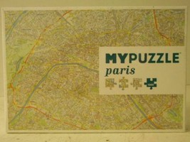 NEW MYPuzzle Paris City Map Made in Europe 1000 Pc Puzzle Helvetiq image 1