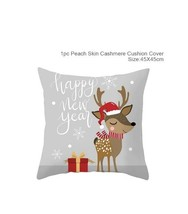Cotton Linen Merry Christmas Cover Cushion Christmas Decor for Home - 49-85 - $12.99