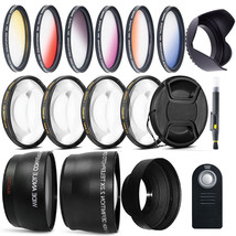 Complete Filter and Lens Bundle with Remote for Canon T6i T5i T4i T3i 7... - $59.98