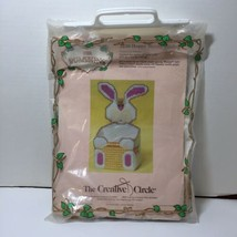 Hoppy Bunny Basket Plastic Canvas Pattern and Leftovers Creative Circle - $11.64