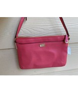NWT COACH MADISON LEATHER EAST WEST SWINGPACK LI SCARLET Red F49992 - $89.09
