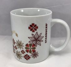 Starbucks 12 Oz White Ceramic Coffee Mug With Colorful Snowflakes Gift - $6.26