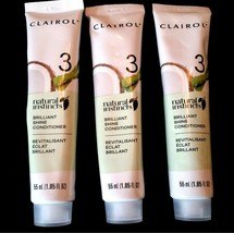 3 Clairol Natural Instincts Brilliant Shine Conditioner Step 3-to Seal Color NEW - $14.82
