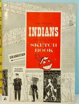 1950 Cleveland Indians Baseball Official Sketch Book Yahoo (A) - $74.25