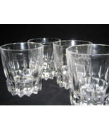 Mikasa Crystal Double Old Fashioned Rocks Glasses 4-pc set DEEP CUTS RAR... - $77.43