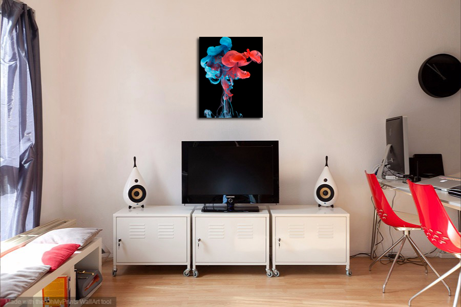 """Abstract Metal Print Wall Decor """"Painted Lady"""""""
