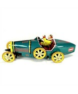 TIN TOY RACE CAR Bugatti T-35 Racer Teal Classic Wind Up NEW Vintage Sty... - $16.95