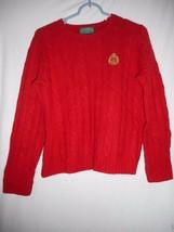 Vintage 100% Lambswool Lauren by Ralph Lauren Petite Red Crewneck Sweate... - $7.91