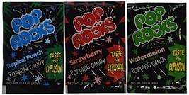 Assorted POP ROCKS Candy Packs 1 dz,Each pack is 0.33 oz 9.5 g - $11.69