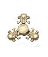Gold Color Skull and Crossbone Metal Fidget Spinner Skeleton Spinner,GOL... - $8.78