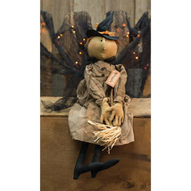Country HALLOWEEN ARABELLA WITCH DOLL Primitive Rustic Collectible Folk ... - $40.91