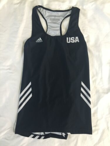 NWOT Adidas Black White Women USA Tank Top Climalite Small Running Yoga Workout