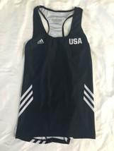 NWOT Adidas Black White Women USA Tank Top Climalite Small Running Yoga Workout image 1