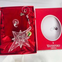 Waterford Crystal Star of Bethlehem Christmas Ornament 2005 Box Velvet B... - $57.36