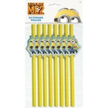 Minons Despicable Me Flex Straws Yellow 24 pc Favors Party - $2.39