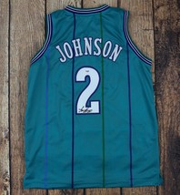"LARRY JOHNSON AUTOGRAPHED/SIGNED CUSTOM TEAL ""GRAND MAMA"" JERSEY PSA/DNA... - $70.49"