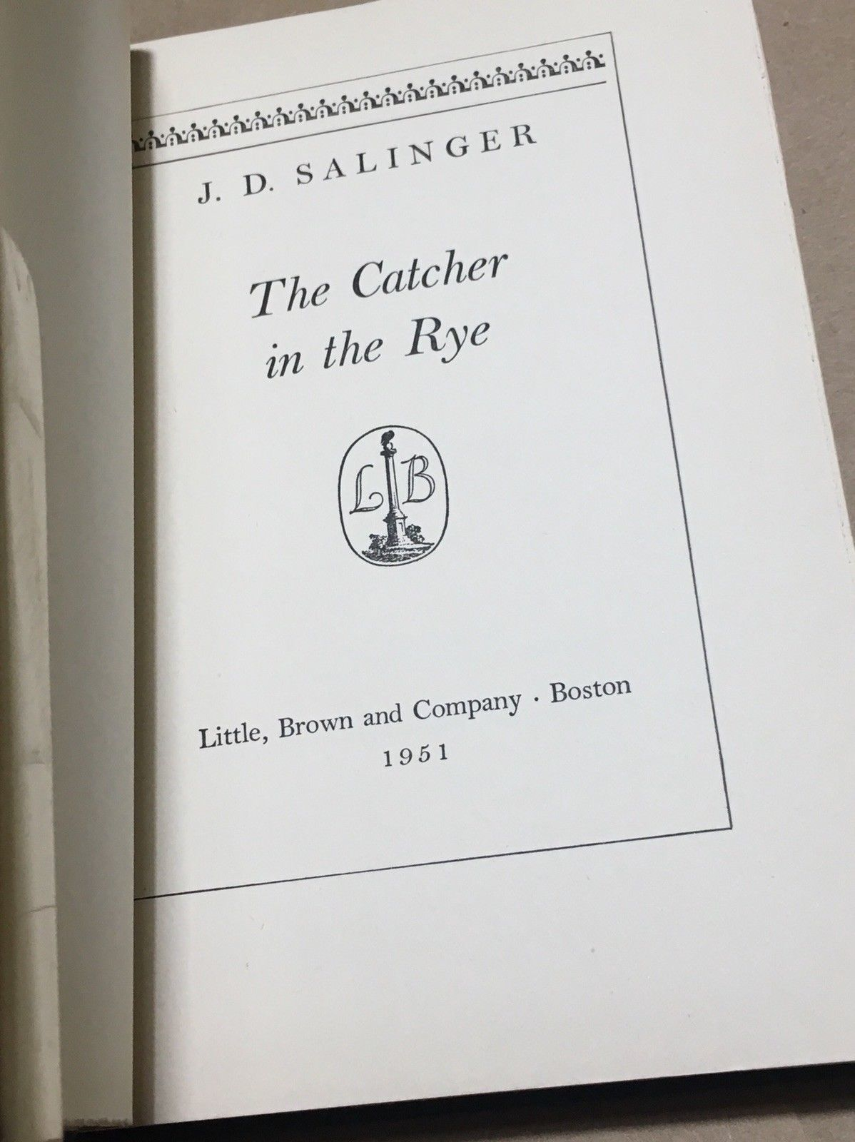 The Catcher In the Rye - J. D. Salinger - 1951 Fine in fine Original dust jacket