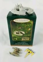 Hallmark Keepsake Ornament Miniature 3 Ornament Set Battle of Naboo Star... - $11.83
