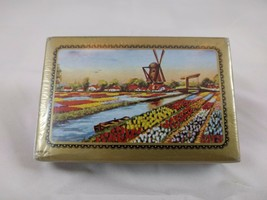 VINTAGE 1950's PACK OF PLAYING CARDS - DUTCH SCENE - TULIP FIELDS & WIND... - $7.38