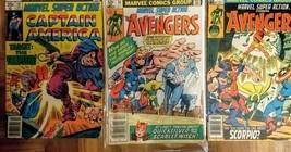 Marvel Super Action #10, 33, 36 vg/+, CPT America N The Avenger, bronze age - $5.40