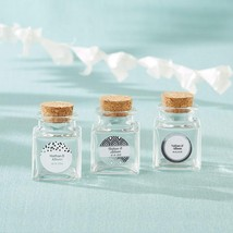 Petite Treat Square Glass Favor Jar - Silver Foil (Set of 12)  - $24.99